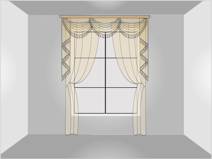 window measurement regular width for valance curtain set