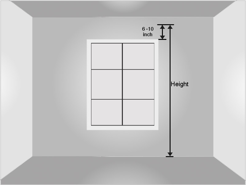 Window measurement for valance curtain set for Window height