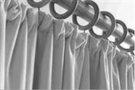 curtain panel heading gathered pleat