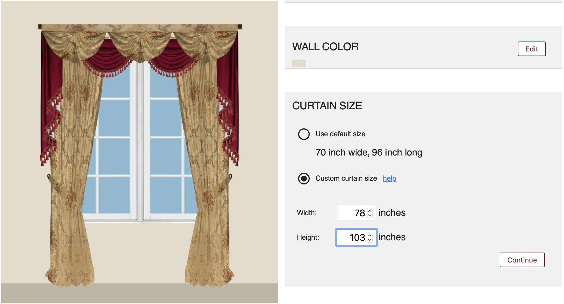 Customization-Size Select